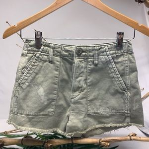 American Eagle Outfitters distressed cargo shorts